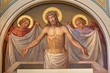 Leinwanddruck Bild - Vienna - fresco of Resurrected Christ in Carmelites church