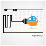 creative light bulb symbol ,saving sign,ideas concepts.