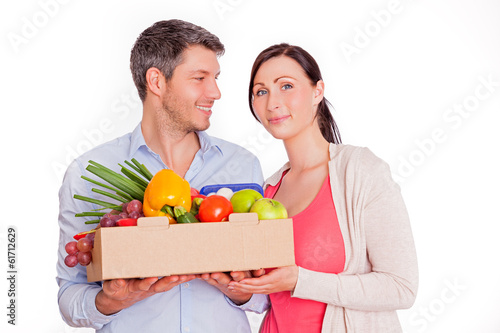 healthy food couple vegetable