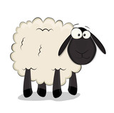 Nice cartoon vector sheep