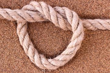 Rope on sand