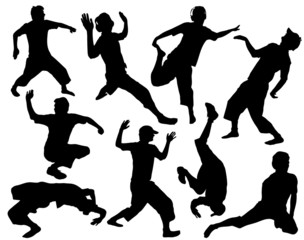 Street dance silhouettes