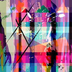 abstract background composition, with strokes, splashes and geom