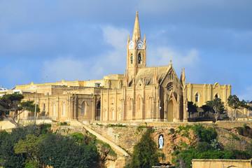 Our Lady of Lourdes church on island Gozo