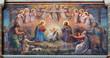 Leinwandbild Motiv Vienna - fresco of Nativity scene in Carmelites church