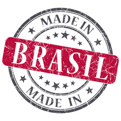 made in BRASIL red grunge stamp
