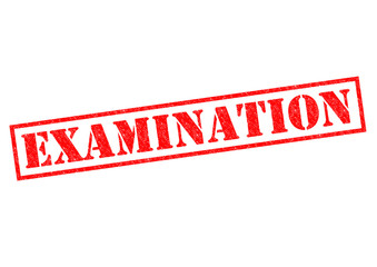 EXAMINATION Rubber Stamp