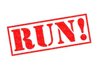 RUN! Rubber Stamp