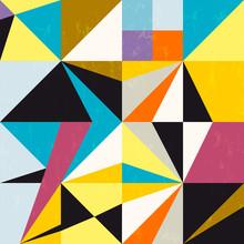 fond abstrait, avec des triangles et des carrés, sale