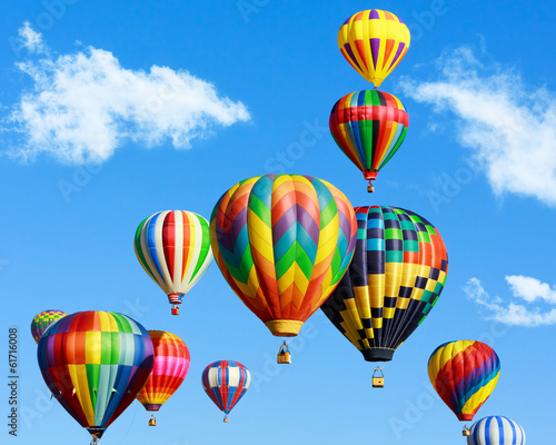 Deurstickers Ballon Colorful hot air balloons