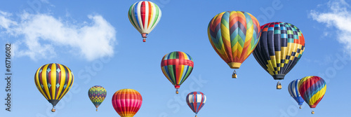 Leinwanddruck Bild Colorful hot air balloons