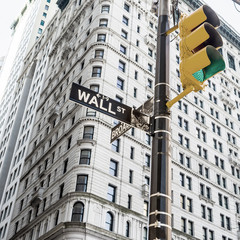 Sign for Wall Street New York City