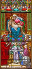 Bratislava - Pieta on windowpane from st. Martins cathedral