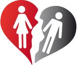 Scheidung Symbol Mann