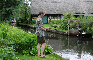 Angler im Spreewald