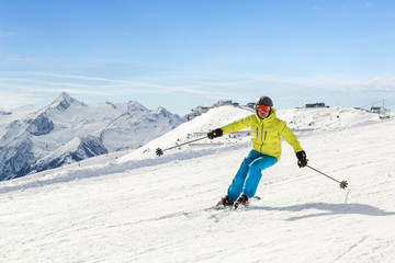 Male skier in the austrian alps