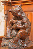 Bratislava - Bear and rodent carved sculpture in cathedral