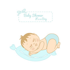 baby shower card with pretty boy