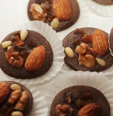 variations of chocolated sweet pralines