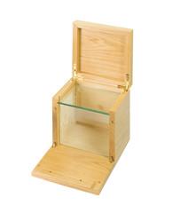 ricca scatola in legno e cristallo