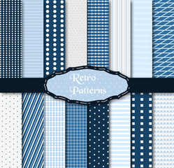 Set of 16 different patterns