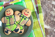 Gingerbread men in khaki uniforms on  Defender of Fatherland Day
