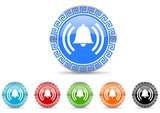 alarm icon vector set