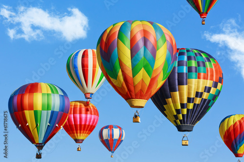 Leinwandbild Motiv Colorful hot air balloons