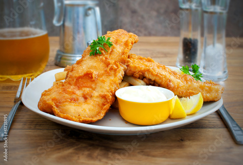 Foto op Aluminium Vis Fish and chips