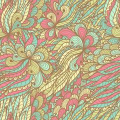 Seamless floral vintage fantasy ornamented pattern