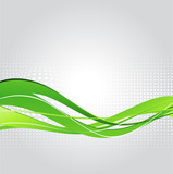 Abstract background with green wave