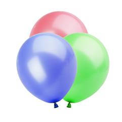 Three colorful balloons