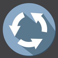 Arrow icon button flat