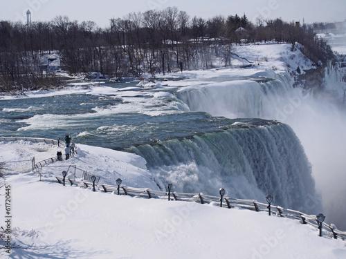 Foto op Canvas Grote meren Niagara falls in winter