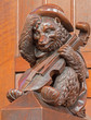 Bratislava - Bear with the violin sculpture from cathedral