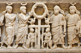 Palermo - Relief from middle age tomb under cathedral