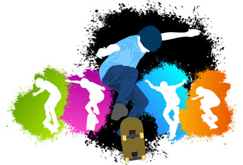 Skaters in color