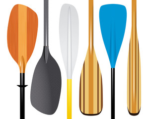 set of paddles