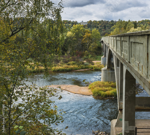 Bridge at the River of Gauja, National Biosphere Reserve, Latvia