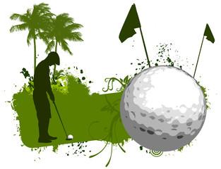 Golf palm banner