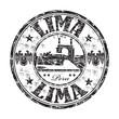 Lima grunge rubber stamp