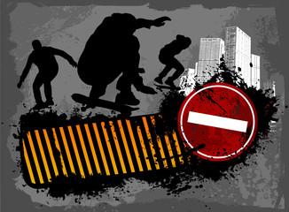 Grunge skaters city
