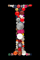 Buttons alphabet  - letter I -