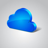 Cloud 3d Blue Vector Icon