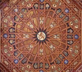 Toledo - Ceiling in atrium of  Monastery of Saint John