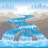 Fototapety Raging Water