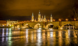 Ebro river and Stone bridge in Zaragoza