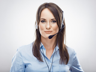 Call center operator portrait .