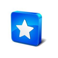 Star Ratings 3d Blue Rounded rectangular Vector Icon Button