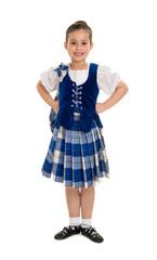 Highland Dancer in Celtic Tartan